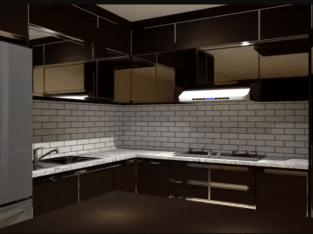 Kabinet dapur Murah Kualitas Premium gratis Granit Marmer