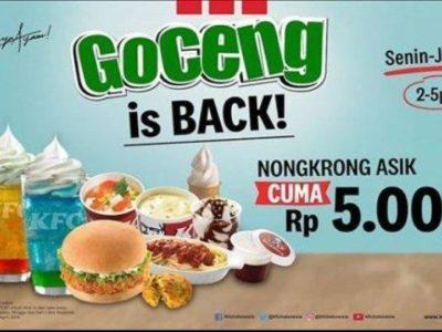 Informasi Promo KFC Goceng, Dirilis Hari Ini dan Berlaku hingga 30 April 2019