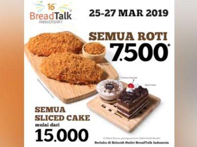 Promo Ulang Tahun BreadTalk, Bisa Beli Semua Jenis Roti Rp 7.500