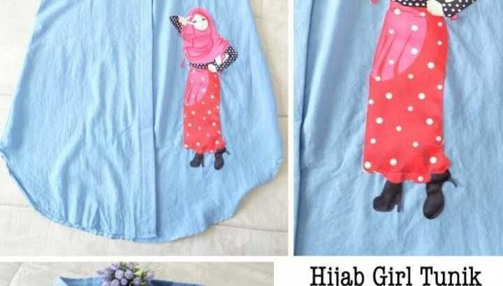 Baju Atasan Wanita Hijab Girl Tunik Bm