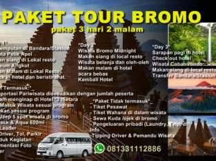 Paket Wisata Jawa Timur | Paket Tour Bromo 3 hari 2 malam