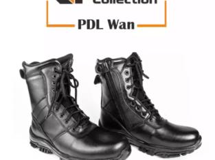 Sepatu PDL Kulit Asli Standart Jatah TNI Boots Safety Shoes Dislap