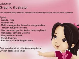 Lowongan Graphic ilustrator design membuat gambar ilustrasi anak
