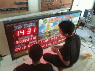 PROMO Jam masjid Running text + timer iqomah alarm kota Semarang