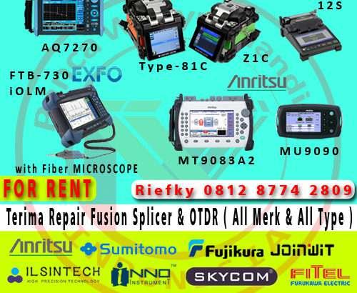 Service dan Sewa Fusion Splicer dan OTDR Murah