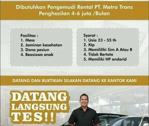 lowongan pengemudi