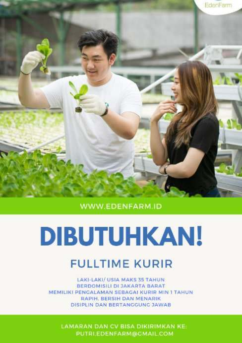 Kurir Sayuran Hidroponik Pasti Terjual