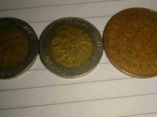 uang koin kelapa sawit tahun 94 96 lan nedherland indie 2 2/5 cent thn 1945 lan uang koin lama luar negri