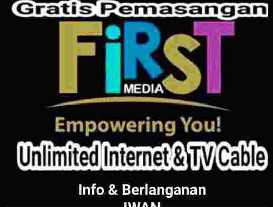 first media promo 12 bulan wifi internet unlimited tv kabel hd