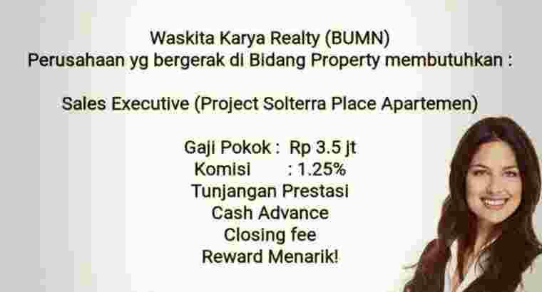 Sales Executive Vasaka Solterra Pejaten Apartment
