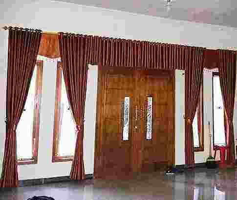 Gorden gordyn hordeng korden curtains tirai wallpaper vertical kasa nyamuk tralis dll siap survey untuk area jabodetabek