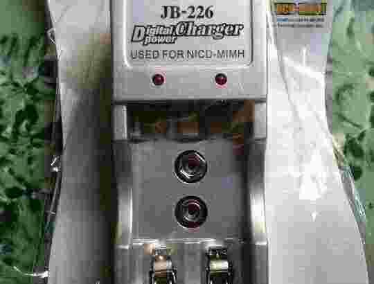 Alat cas baterai 2pcs 3in1 AA, AAA, baterai kotak 9volt merk jiabao murah