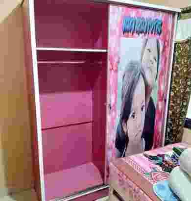 Lemari pakaian Pintu 2 sleding custom Foto pribadi Bisa Request.