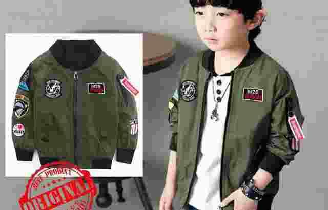 jaket bomber kids 5-7th
