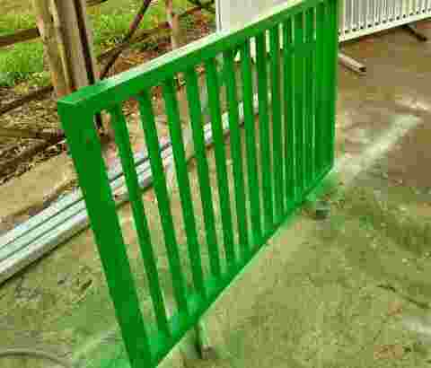 reling balkon pagar Pintu dorong murah