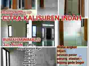 Rumah tanpa Dp di bogor , dekat jln ry Parung. & dekat jln kalisuren inkopad 3jt allin