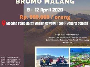 SPECIAL FOR APRIL open trip bromo malang