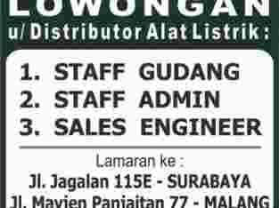 Lowongan Distributor Alat Listrik di Surabaya