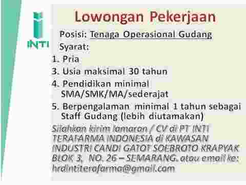 Lowongan Kerja Area Supervisor Semarang Pasti Terjual