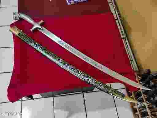 pedang 18 70 cm-Green. bisa COD