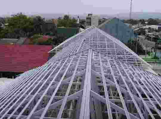 plafon pvc dang rangka atap baja ringan