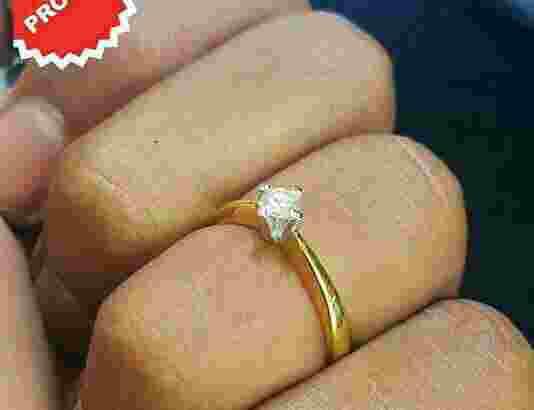 promo Cincin emas berlian akhir bulan juni.  buruan diserbu diskon buat luar jabotabek.