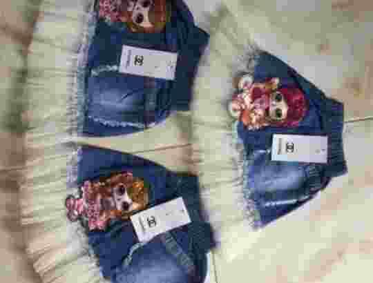 Rok jeans anak Tutu Led