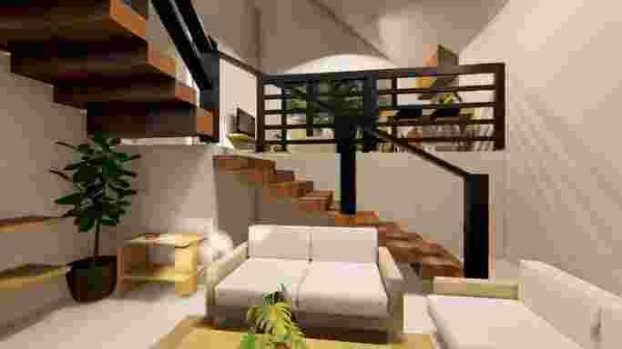 Rumah 2 lantai ada balkon di sky mansion ngaliyan semarang barat harga 500jutaan