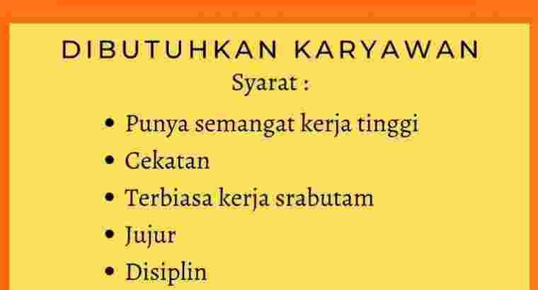Dibutuhkan Karyawan RM Umi Ayam Bakar & Garang Ase
