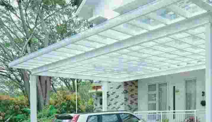 Canopy kaca minimalist