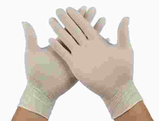 promo harga sarung tangan karet SiZE (M) 1 box isi 100