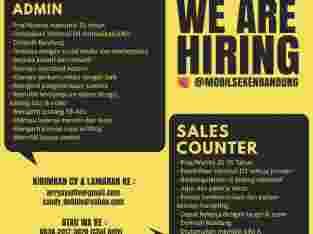 Lowongan Kerja Loker Sales Counter dan Sosmed IT