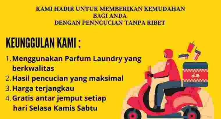 Butuh tenaga antar jemput laundry