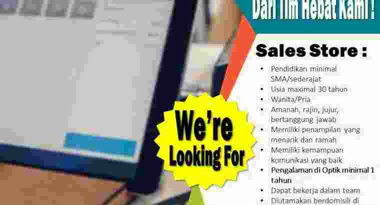 Loker Sales Store / Produk konsultan