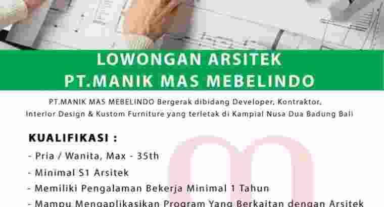 Lowongan Kerja Arsitektur Nusa Dua