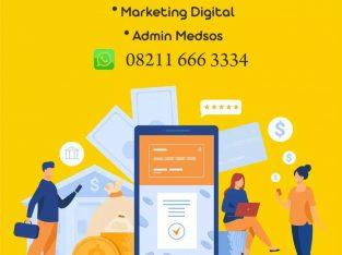 Dibutuhkan digital marketing dan admin medsos