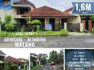 Rumah di Arjosari, Blimbing, Malang ~ 6 Kamar, SHM