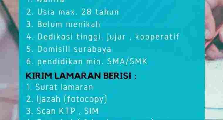 Dibutuhkan Tenaga Admin Renata Harapan Surabaya