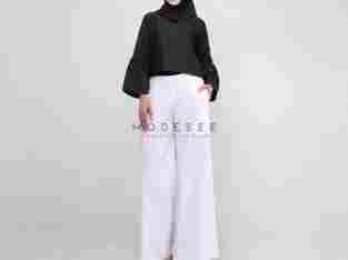 Modesee – Crop Top M1147 All Size Black