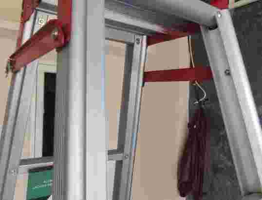 Tangga lipat aluminium murah super tebal