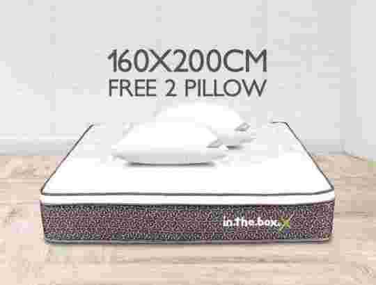 IntheBox – Kasur Spring Bed IntheBox X (Queen) 160x200x27 Pitih