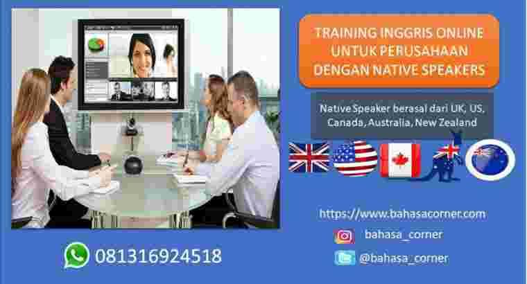 Training Bahasa Inggris Karyawan dengan Bule Nativ