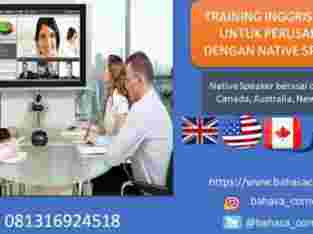 Training Inggris Native Speaker Online