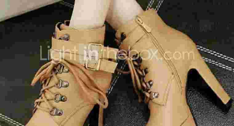 sepatu heels boots aziiziyah,bayar ditempat