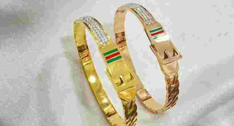 perhiasan gelang bangle titanium..bayar ditempat