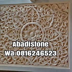 Relief batu alam asli hiasan dinding dekorasi