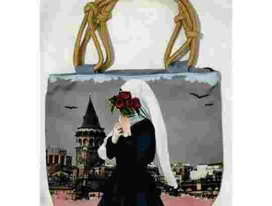 totebag wanita hijab tali kepang (COD)