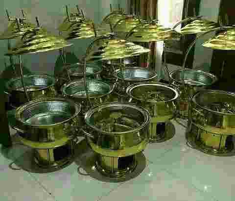 Pemanas Makanan-Chafing Dish  Logam Kuningan-Brass