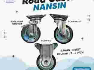 Roda Troli Nansin Black Rubber 3 – 8 inch