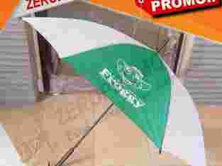 Produksi Payung Standart Gagang Kayu Sablon 4 Sisi